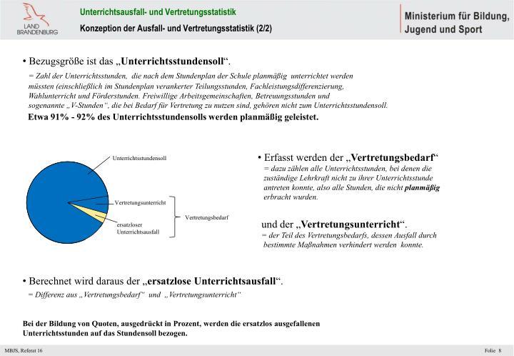 Unterrichtsausfall- und Vertretungsstatistik