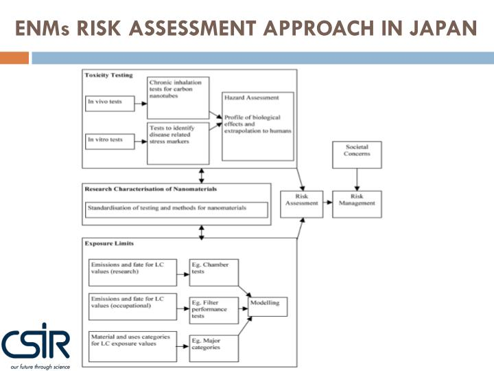 ENMs RISK ASSESSMENT APPROACH IN JAPAN