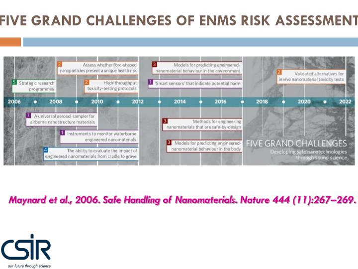 FIVE GRAND CHALLENGES OF ENMS RISK ASSESSMENT