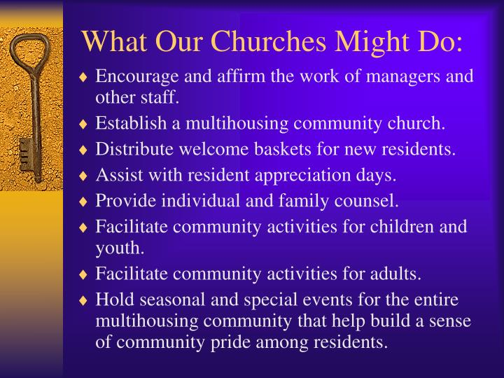 What Our Churches Might Do: