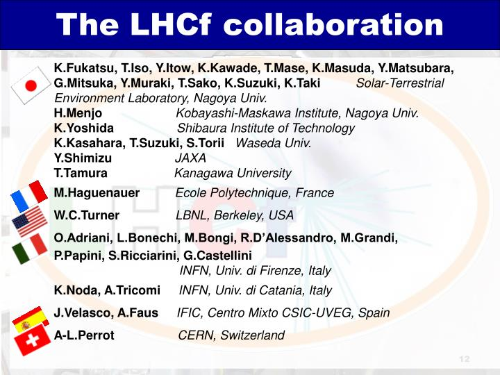 The LHCf collaboration