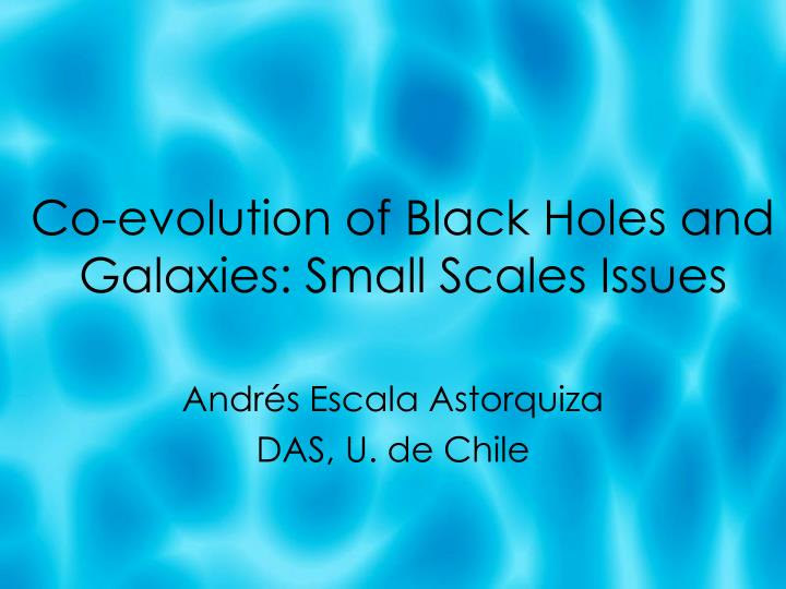 Co-evolution of Black Holes and Galaxies: Small Scales Issues