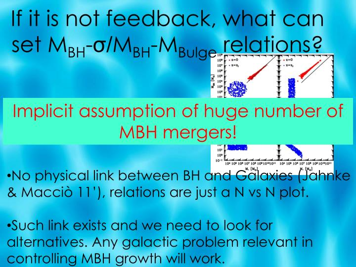 If it is not feedback, what can set M