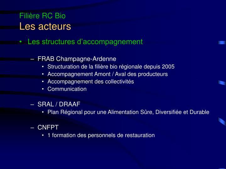 Filière RC Bio