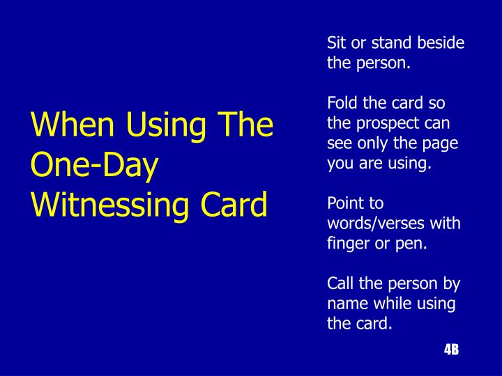 Sit or stand beside the person.