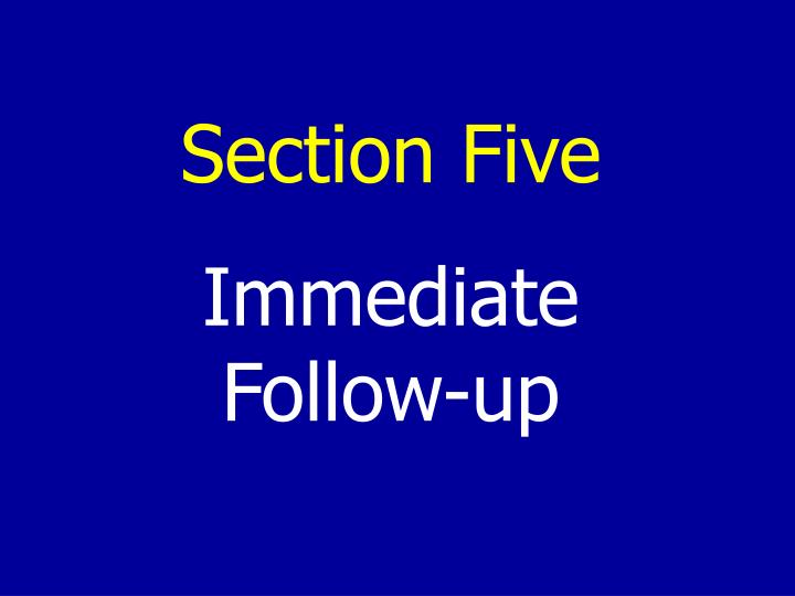 Section Five