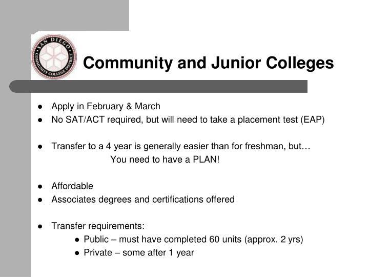 Community and Junior Colleges
