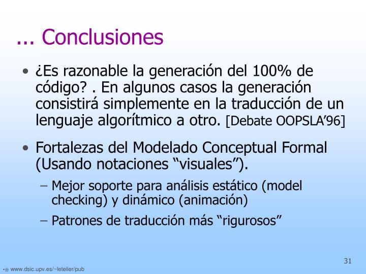 ... Conclusiones