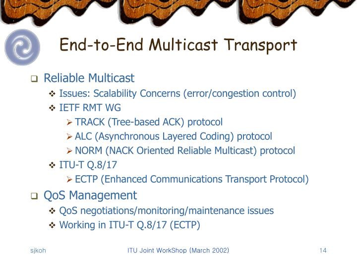 End-to-End Multicast Transport