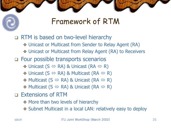 Framework of RTM