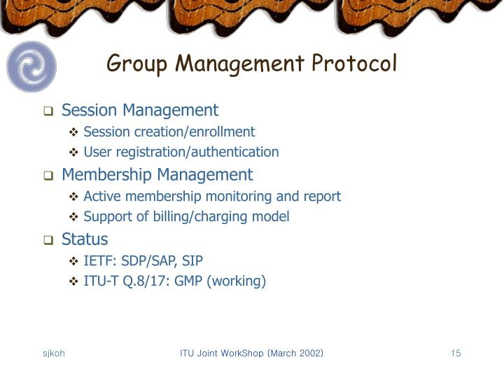 Group Management Protocol