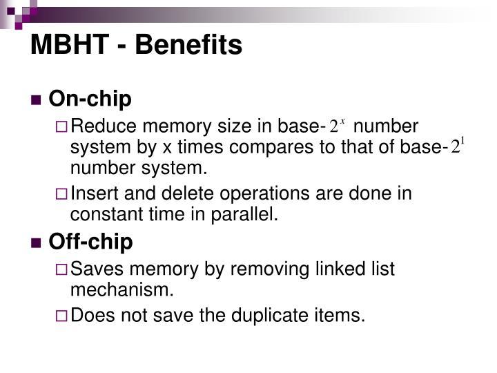 MBHT - Benefits