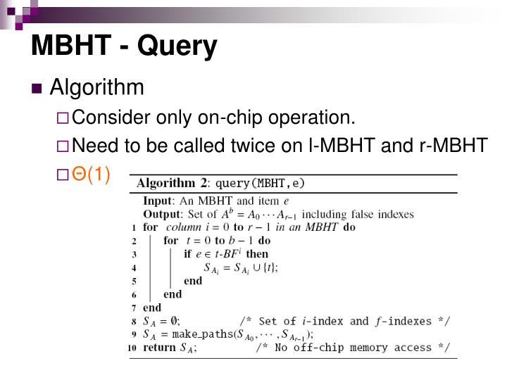 MBHT - Query