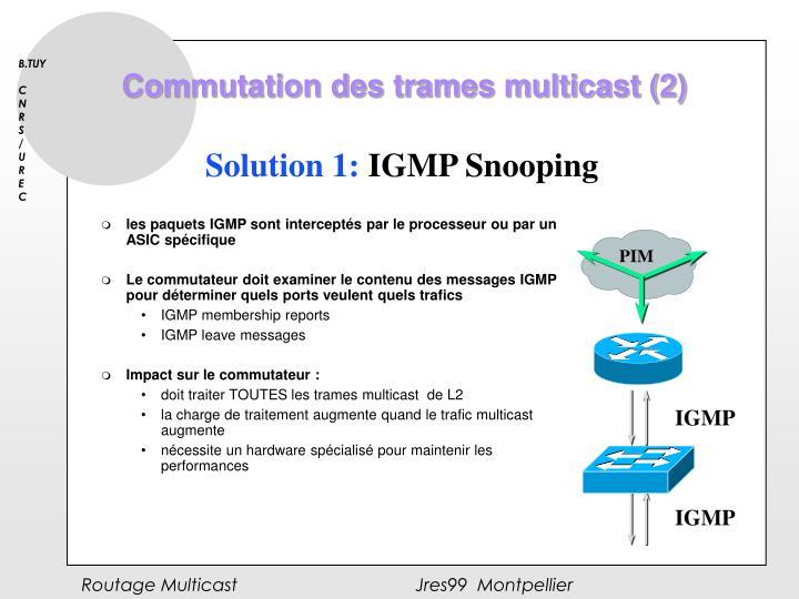 Commutation des trames multicast (2)