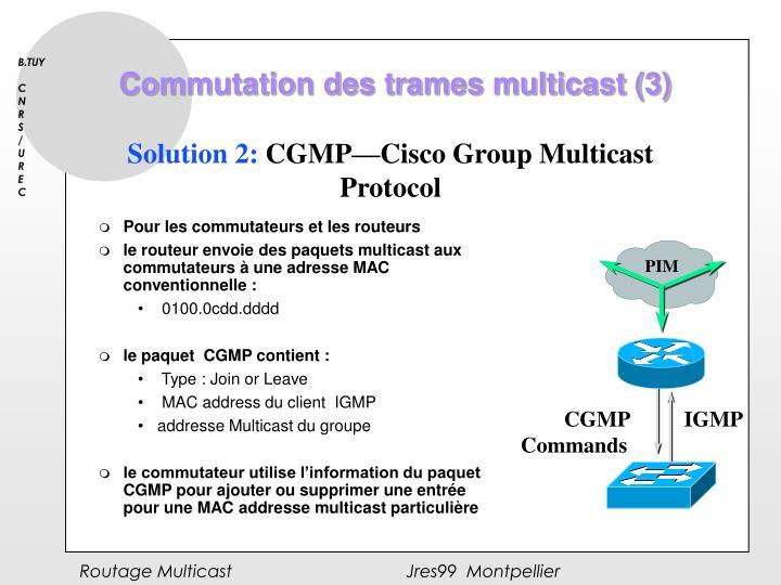 Commutation des trames multicast (3)