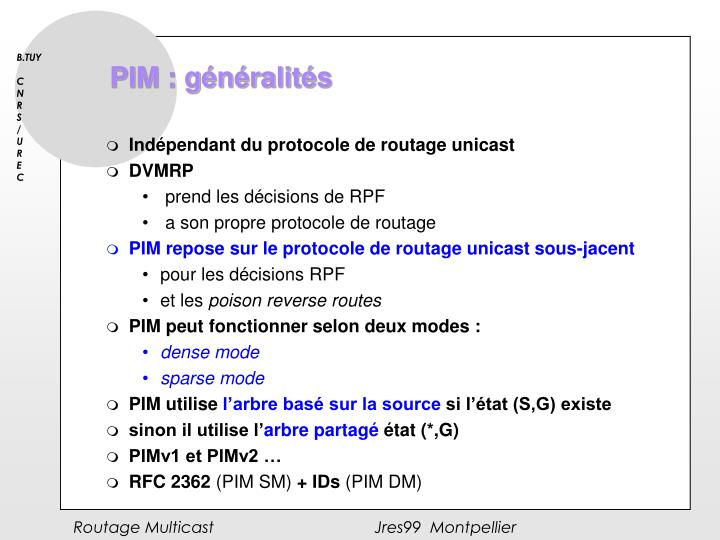 PIM : généralités