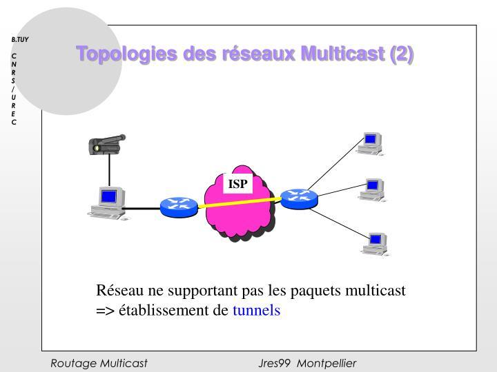Topologies des réseaux Multicast (2)