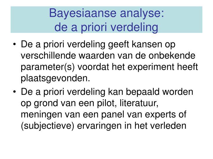 Bayesiaanse analyse: