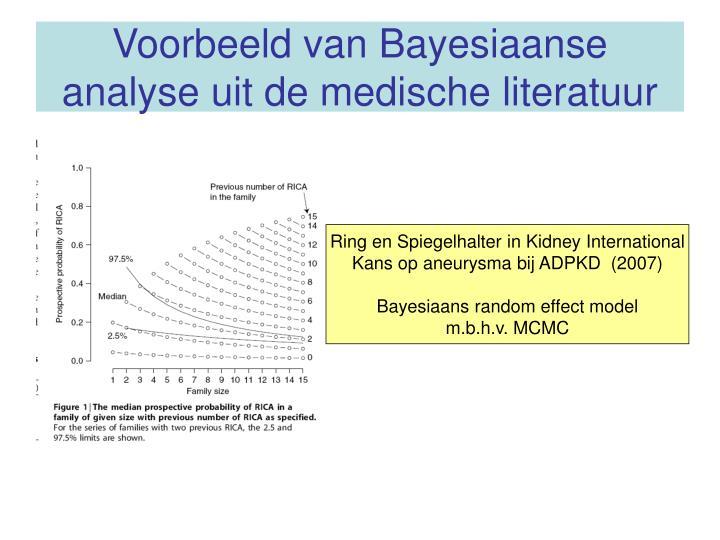 Voorbeeld van Bayesiaanse analyse uit de medische literatuur