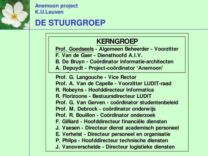 DE STUURGROEP