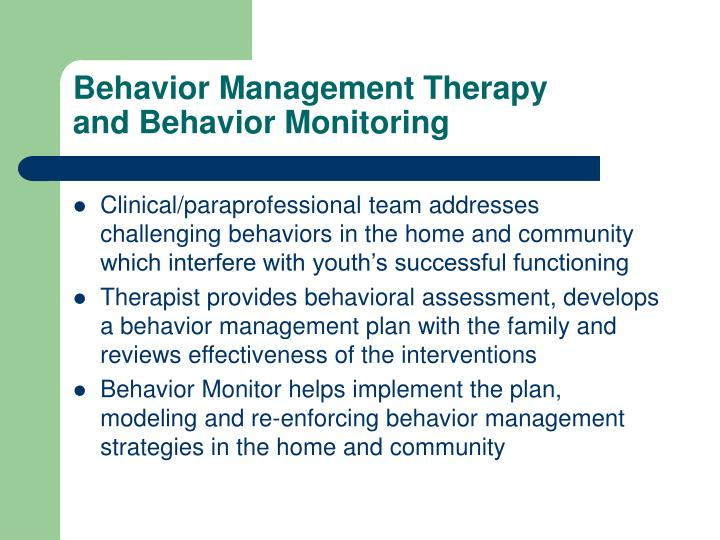 Behavior Management Therapy