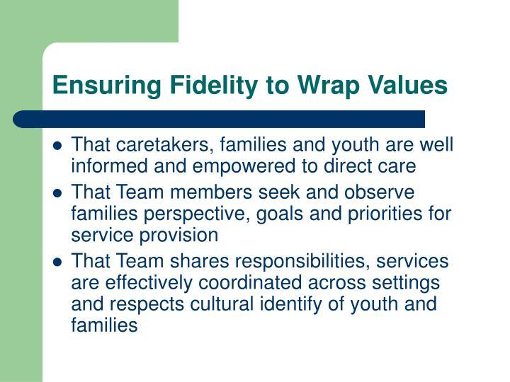 Ensuring Fidelity to Wrap Values