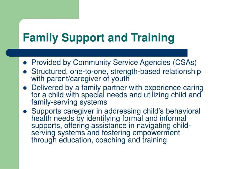 Family Support and Training