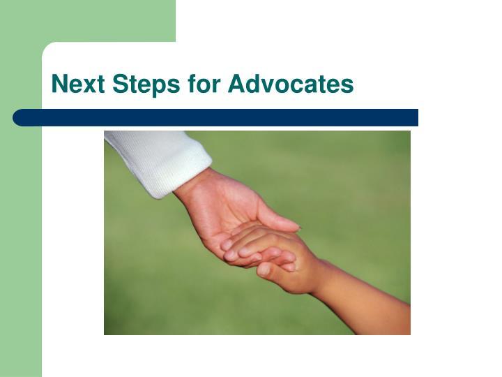 Next Steps for Advocates