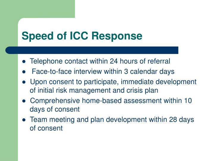 Speed of ICC Response