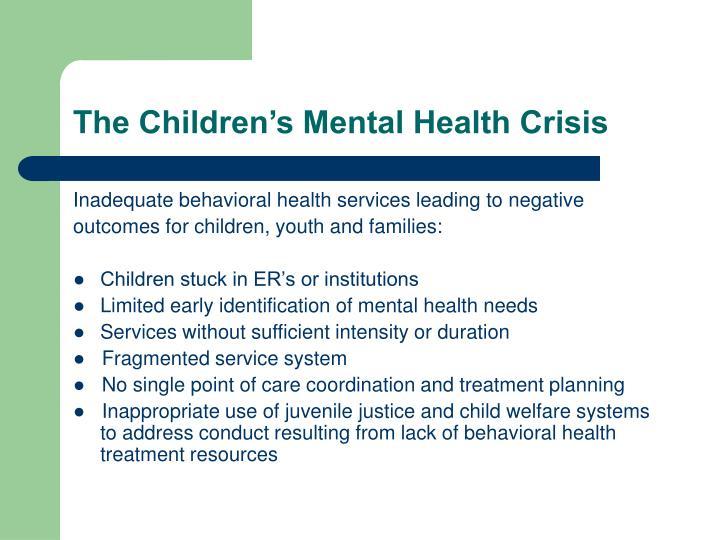The Children's Mental Health Crisis