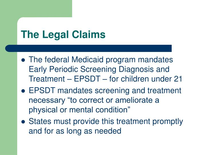 The Legal Claims