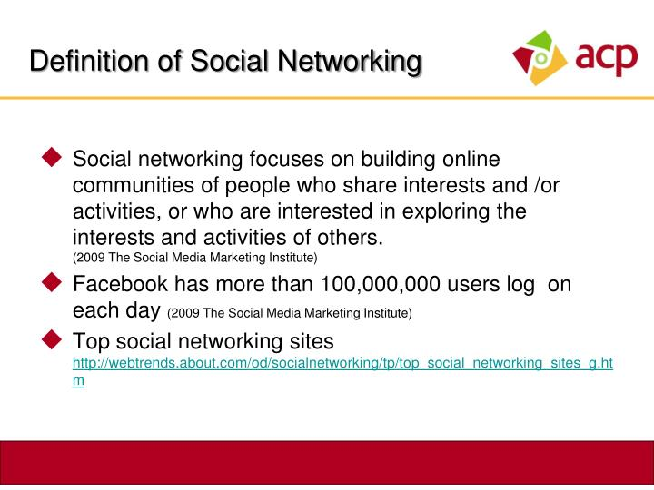 Definition of Social Networking