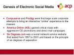genesis of electronic social media6