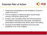 potential plan of action