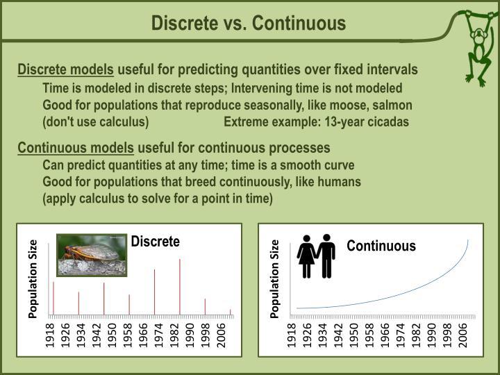 Discrete vs. Continuous