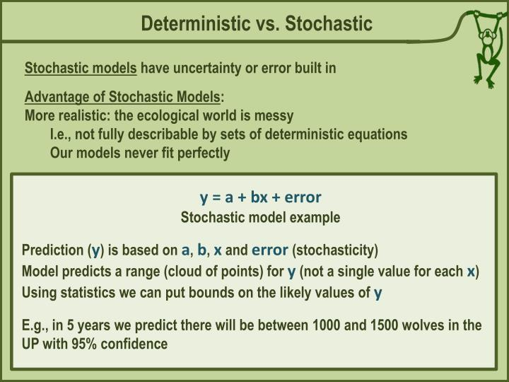 Deterministic vs. Stochastic