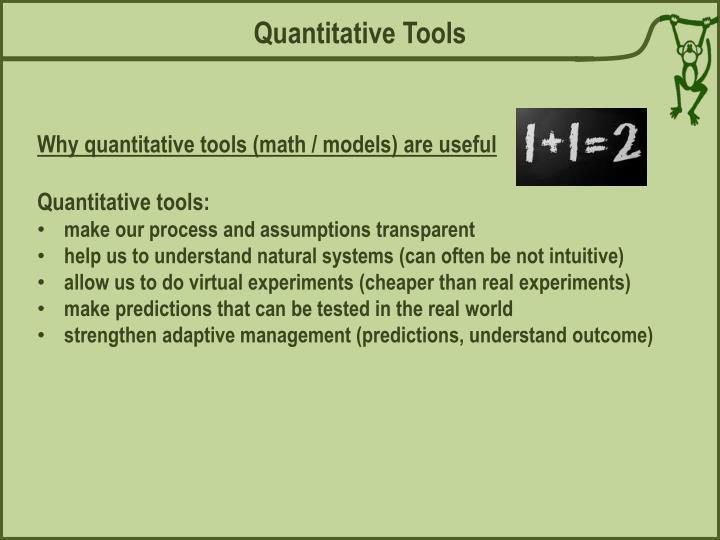 Quantitative Tools