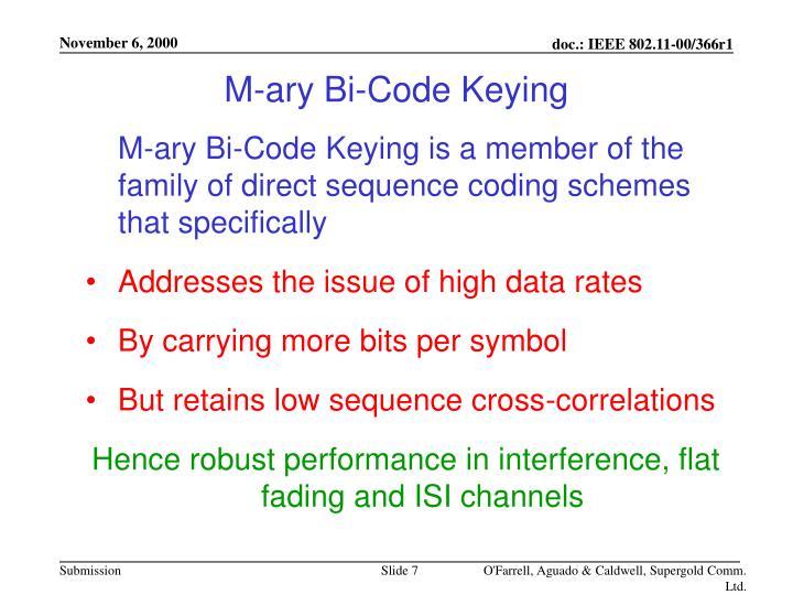 M-ary Bi-Code Keying