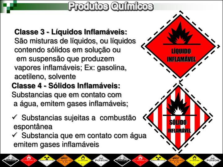 Classe 3 - Líquidos Inflamáveis: