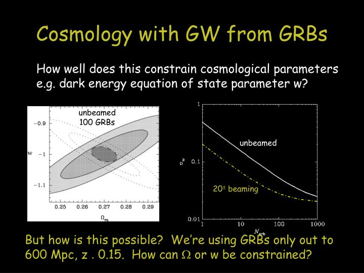Cosmology with GW from GRBs