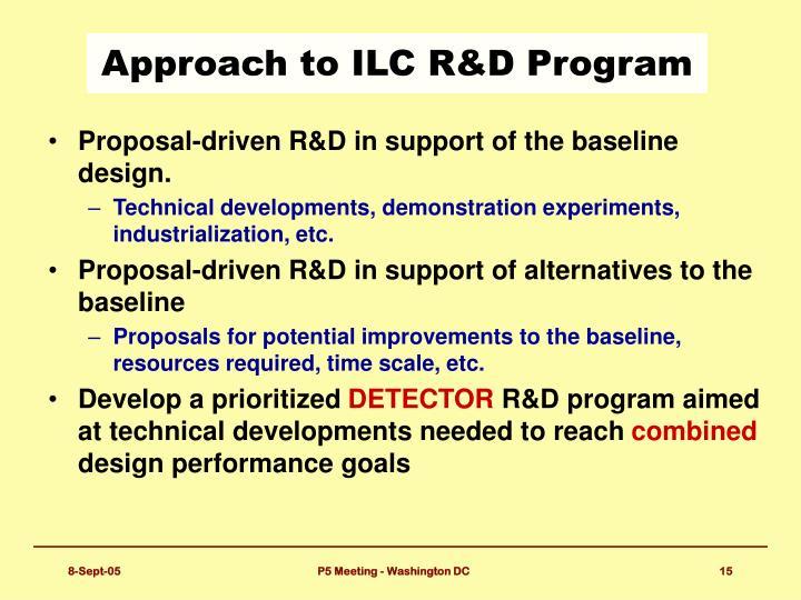 Approach to ILC R&D Program
