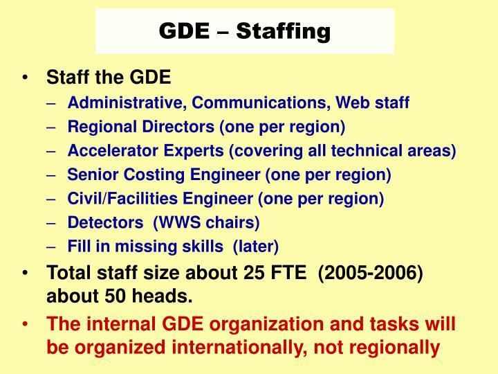 GDE – Staffing