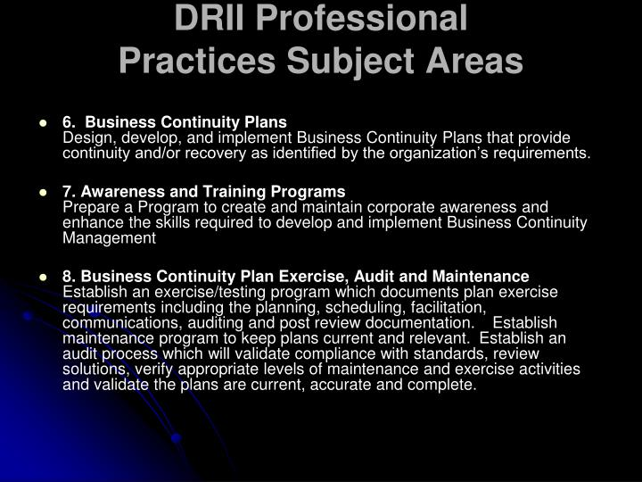 DRII Professional