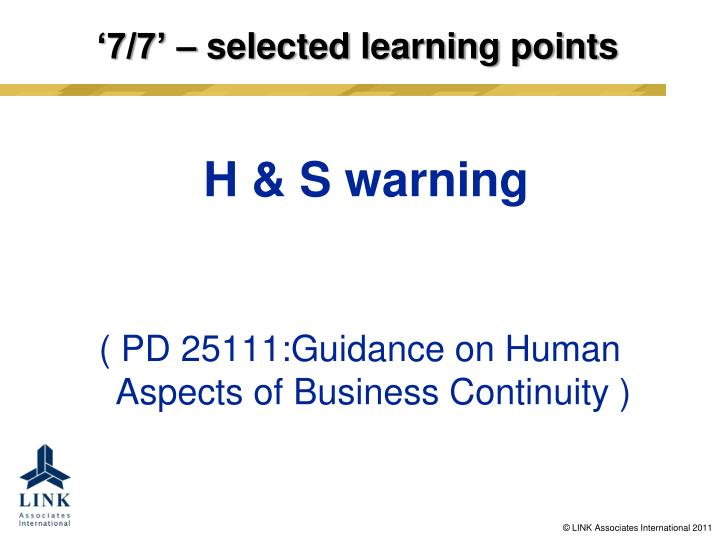 7 7 selected learning points2