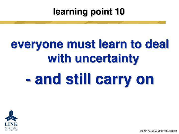 learning point 10