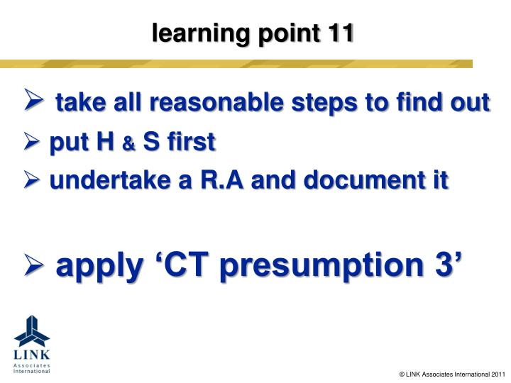 learning point 11