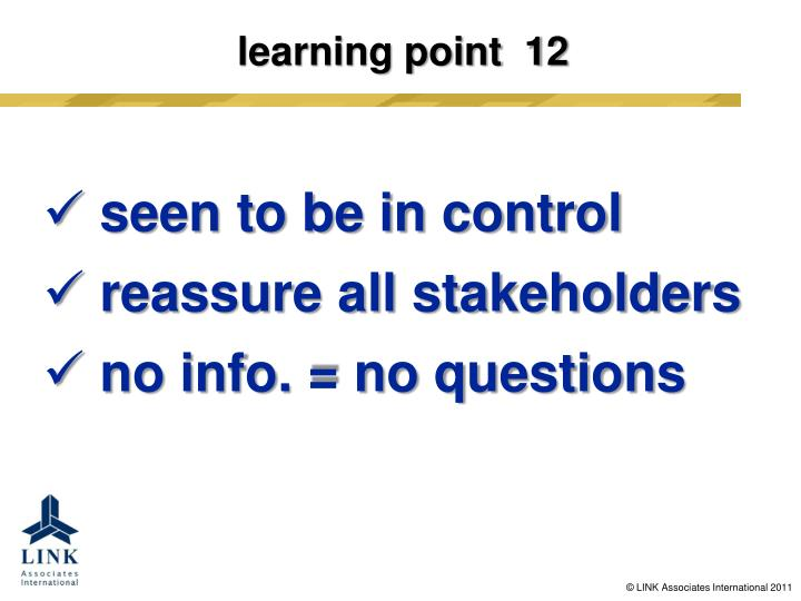 learning point  12