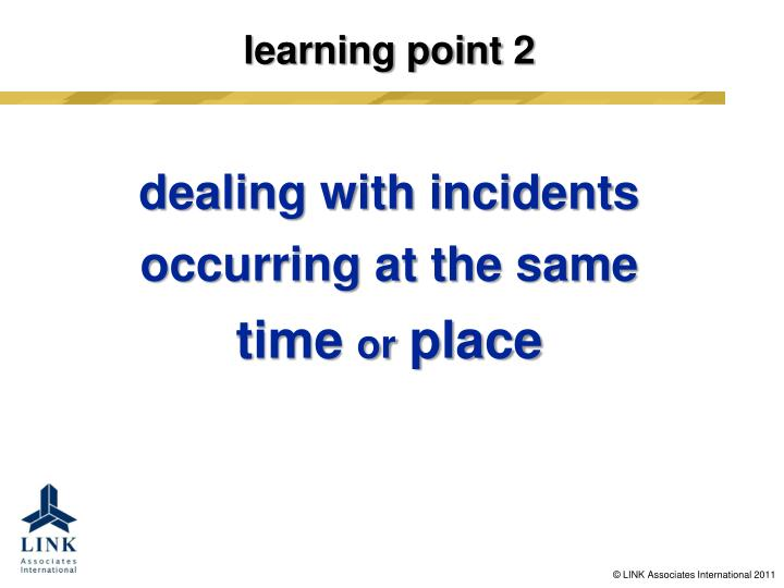 learning point 2