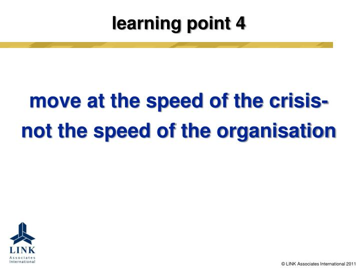 learning point 4