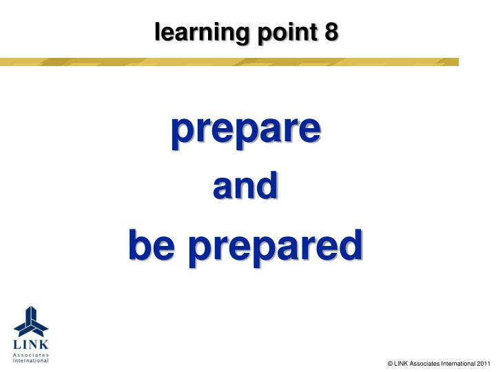 learning point 8